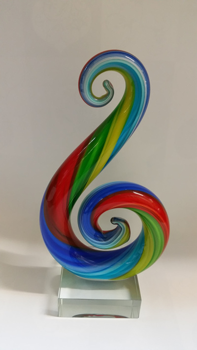 Double Koru Rainbow - Glass