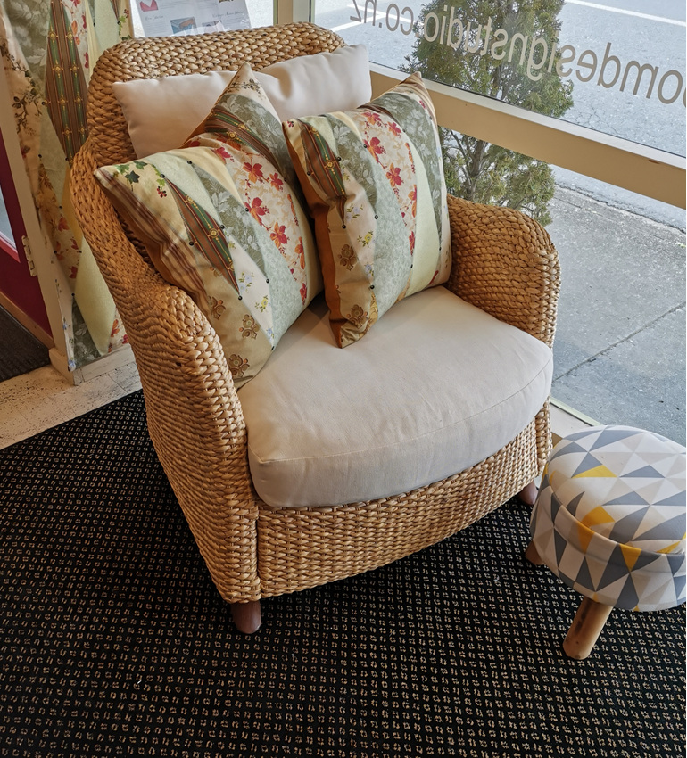 Double mould armchair bloomdesigns waikanae upholstery water hyacinth