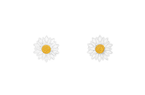 Double Petal Daisy Studs