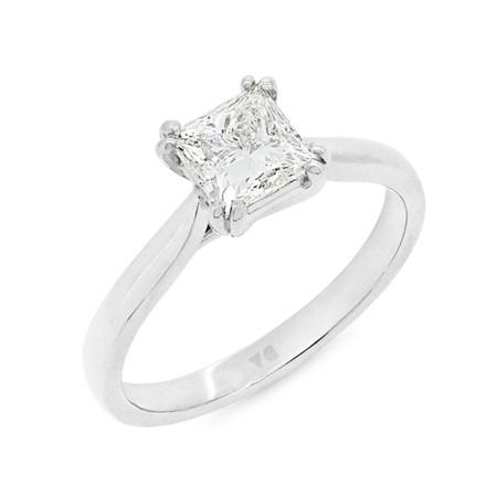 Double Prong Princess Cut Diamond Ring