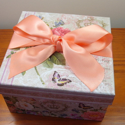 Double-Sided Satin Ribbon: Apricot