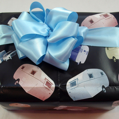 Double-Sided Satin Ribbon: Baby Blue