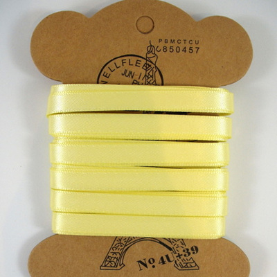 Double-Sided Satin Ribbon: Baby Maize