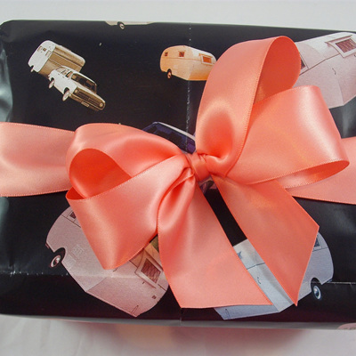 Double-Sided Satin Ribbon: Coral