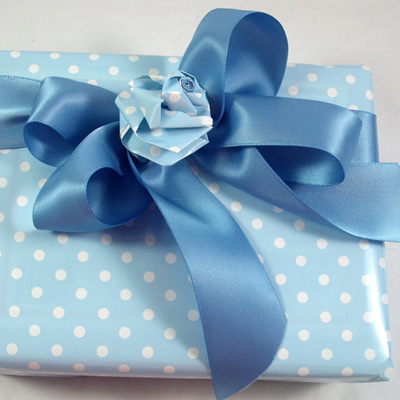 Double-Sided Satin Ribbon: French Blue