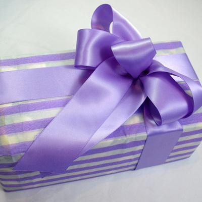 Double-Sided Satin Ribbon: Hyacinth Purple
