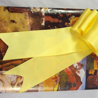 Double-Sided Satin Ribbon: Lemon