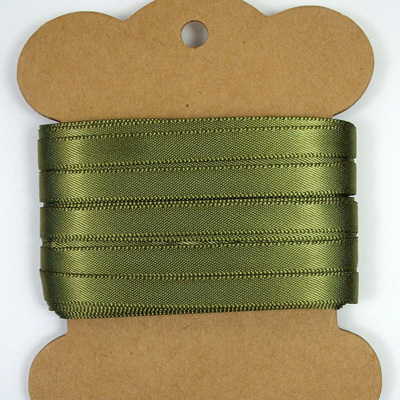 Double-Sided Satin Ribbon: Olive Green