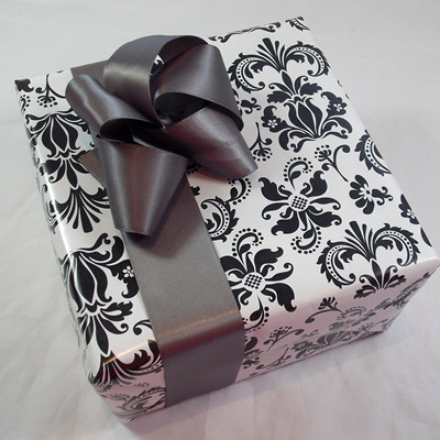 Double-Sided Satin Ribbon: Pewter
