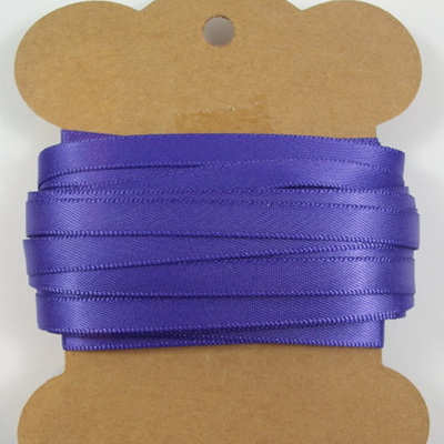 Double-Sided Satin Ribbon: Regal Purple