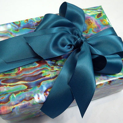 Double-Sided Satin Ribbon: Teal