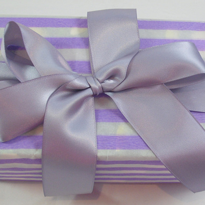 Double-Sided Satin Ribbon: Thistle