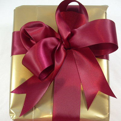 Double-Sided Satin Ribbon: Wine Red