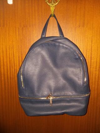 Double Zip Backpack - NAVY