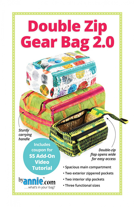 Double Zip Gear Bags 2.0 from By Annie