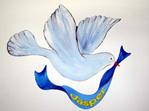 Dove and ribbon