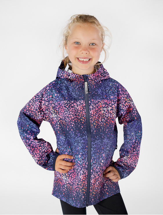 Downpour rainshell therm outdoor blossom kids seam sealed