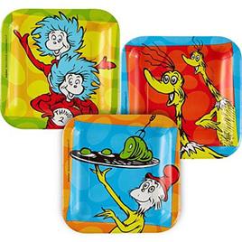 Dr. Seuss plates x 8