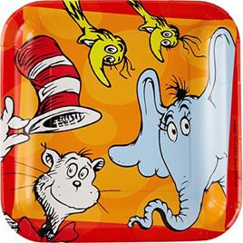 Dr. Seuss large plates x 8