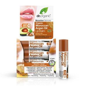 Dr Organic Moroccan Argan OIL LIP BALM  AVOCADO&ALMOND