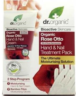 Dr Organic  ROSE OTTO HAND CREAM GIFT PACK Rose Otto Hand Cream Gift pack