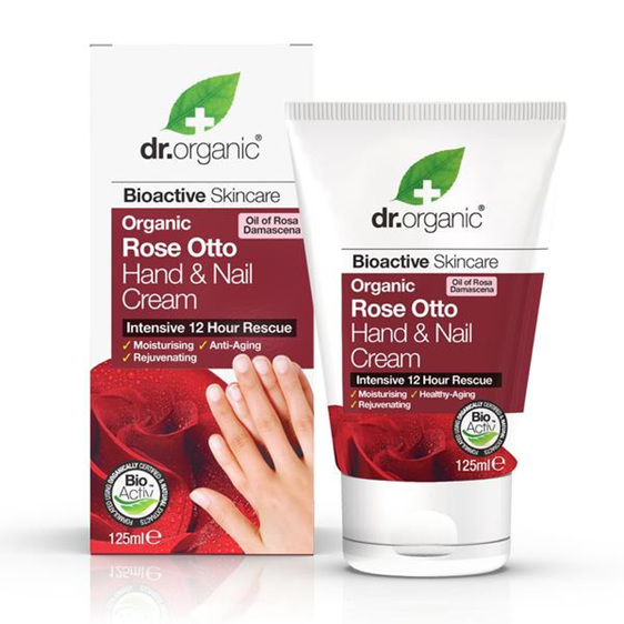 Dr Organic Rose Otto Hand & Nail Cream 125ml