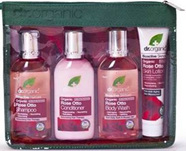 Dr Organic Rose Otto Travel Set  LIMITED OFFER