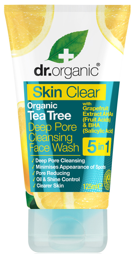 Dr Organic Skin Clear Deep Pore Cleansing Face Wash 125ml