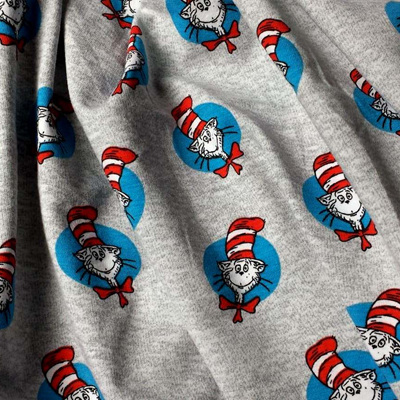 Dr Seuss - Cat In The Hat Knit - Grey