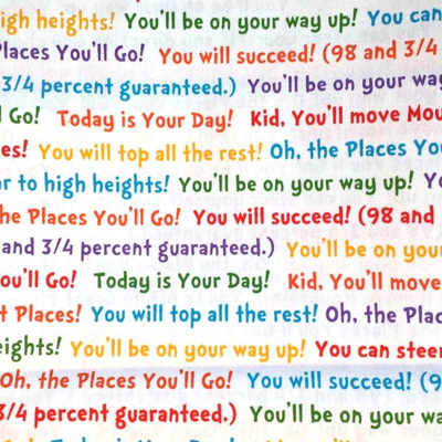 Dr Seuss - Oh The Places You Will Go - Words