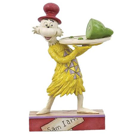 Dr Seuss - Sam holding green eggs & ham  figurine