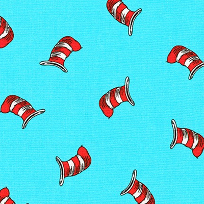 Dr Seuss - The Cat In The Hat - Hat Aqua