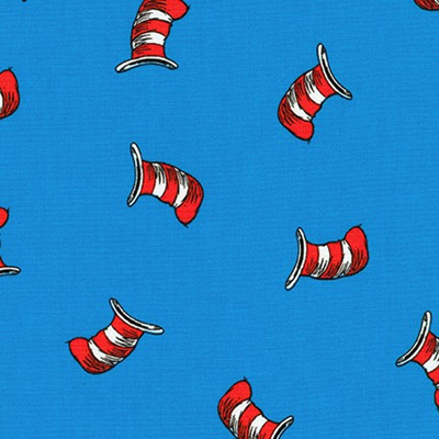 Dr Seuss - The Cat In The Hat - Hat Blue