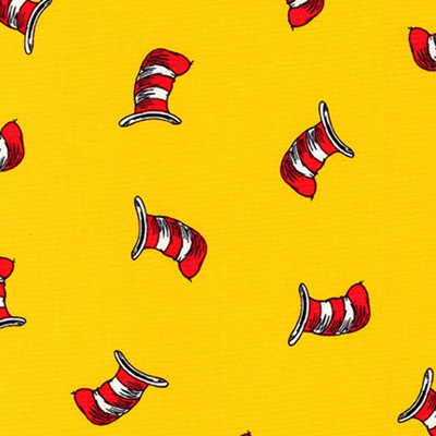 Dr Seuss - The Cat In The Hat - Hat Yellow