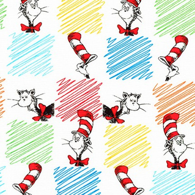 Dr Seuss - The Cat In The Hat - Scribble Square Multi