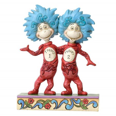Dr Seuss - Thing 1 and Thing 2 figurine.