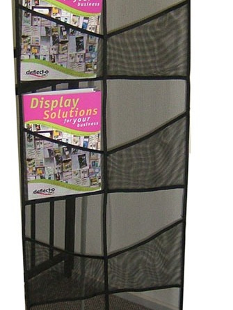 DR1002 A4x 8, Black lightweight plastic mesh. Collapsible (roll-up)