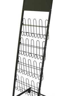DR1005 A4 x 8, black powder coated frame with plastic coated wire shelves