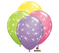 Dragonfly & butterfly balloon x1