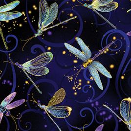 Dragonfly Dance Dancing Dragonflies Navy 849859