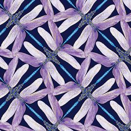 Dragonfly Dance Pinwheel Geo Navy/Violet 850268