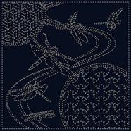 Dragonfly Sashiko Cloth