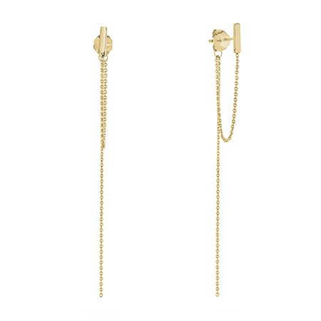 Draped Gold Chain Earrings