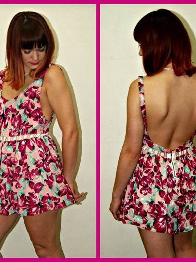Dream of Sunsets Playsuit - Maroon / Peach Floral