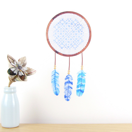 Dreamcatcher Blue wall decal small