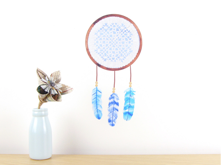 Dreamcatcher Blue wall decal small