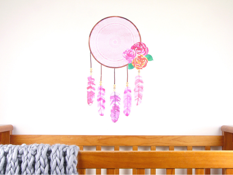 Dreamcatcher wall decal  large