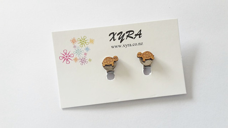 Dreamy Turtle Bamboo Clip-on Earrings