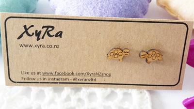 Dreamy Turtle Bamboo Earrings