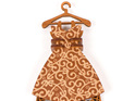 dress christmas decoration - brown koru - new zealand made